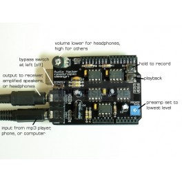 Audio Hacker Shield Kit for Arduino