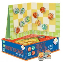 Magnetic Robot Checkers Set