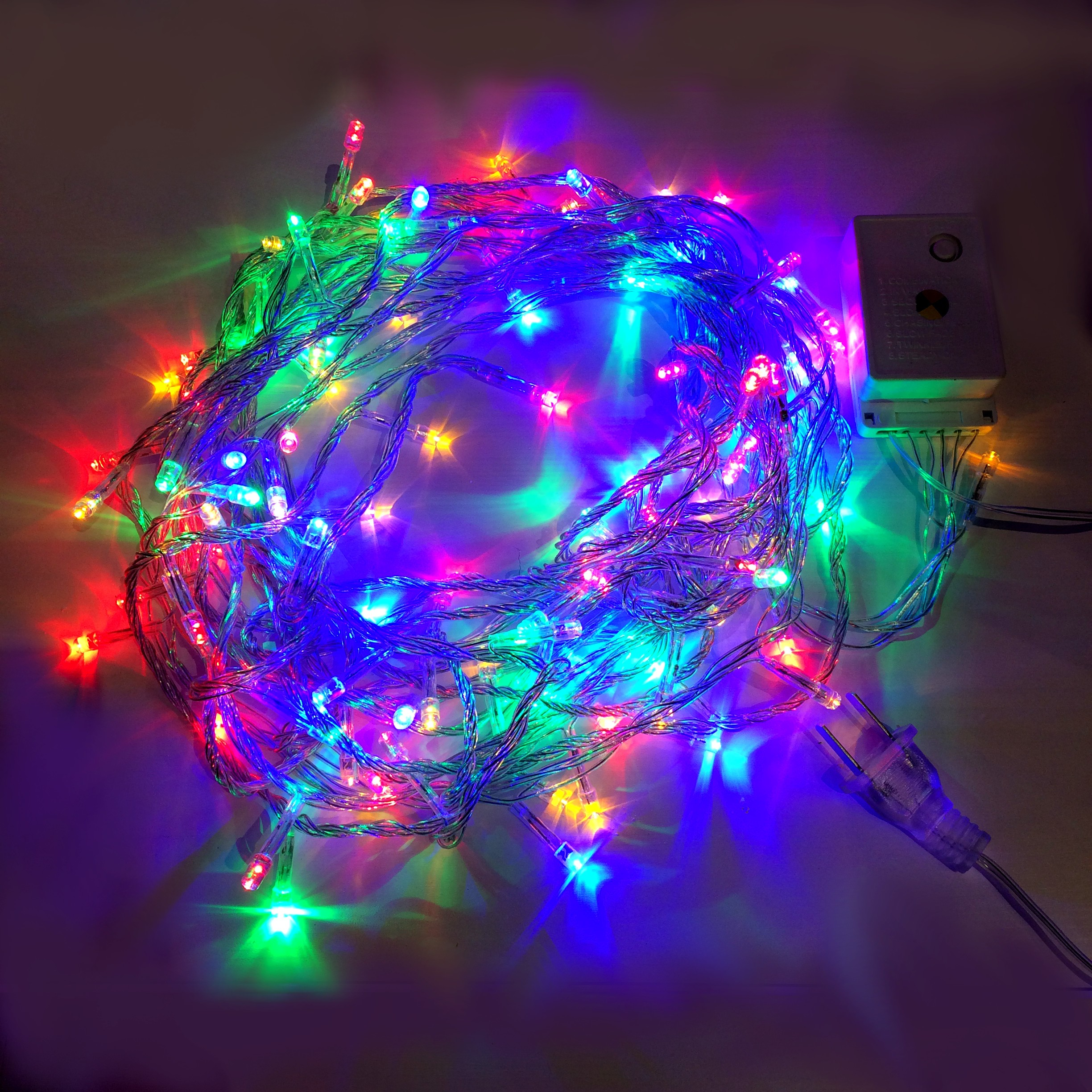 Rgyb 10m 8 Mode Led String Lights