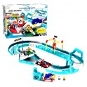 Mario Kart Ice Race Building Set Toy with Mario & Bowser