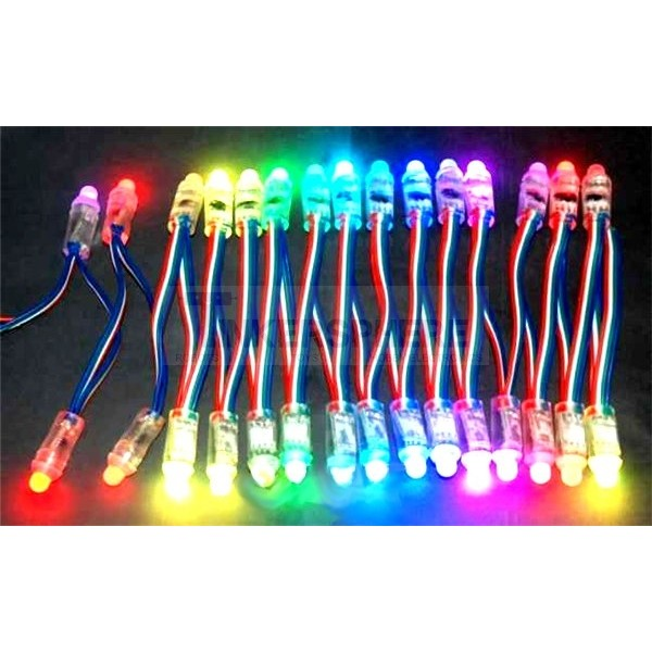 $15.99 - 12mm Diffused Thin Digital RGB LED Pixels (Strand of 10 ...