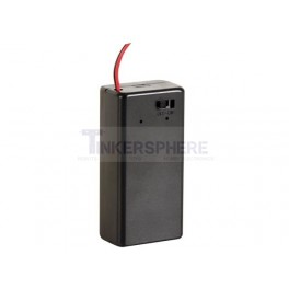 Enclosed 9V Battery Holder with On/Off Switch