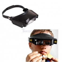 Head Magnifier Visor with Light for Precision Electronics Work