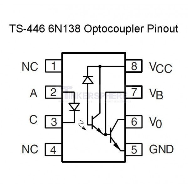 4 49 - 6n138 optocoupler    optoisolator