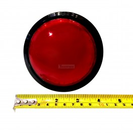 Big Dome Pushbutton - Red Illuminated 100mm