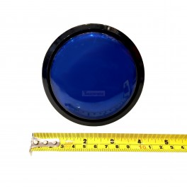 Big Dome Pushbutton - Blue Illuminated 100mm