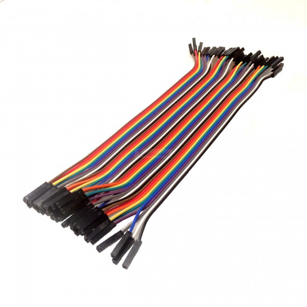 $6.99 - 40 Pin Female to Female Ribbon Jumper Cable - Tinkersphere