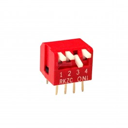4 Pin DIP Switch Side Levers