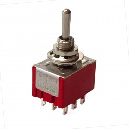 9 Pin Toggle Switch: 3PDT
