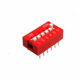 6 Pin DIP Switch (Breadboard & Perfboard Compatible)