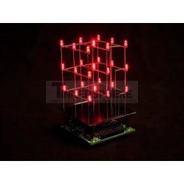 3D LED Cube Kit: 3x3x3