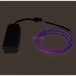 Flowing Effect EL Wire with Inverter - Purple