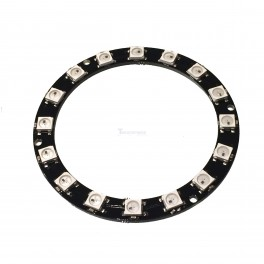 Large 16 x WS2812 5050 RGB LED Ring with Integrated Drivers (Neopixel Compatible)