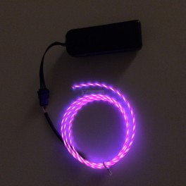 EL Flowing Effect Wire with Inverter - Pink