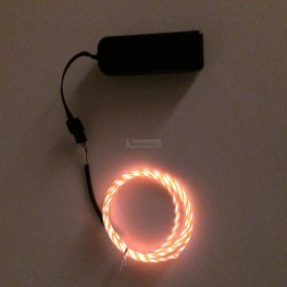 EL Flowing Effect Wire with Inverter - Orange