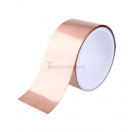 Wide Copper Foil Tape: 50mm ( 6.56 ft / 2m )