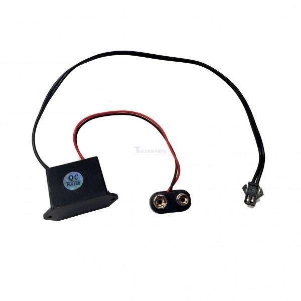 $10.99 - EL Wire Inverter w 9V Battery Clip - Tinkersphere