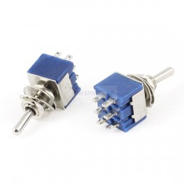 Metal Toggle Switch: DPDT 6 Pin