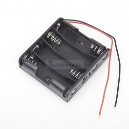 4 AA Battery Holder with Wires