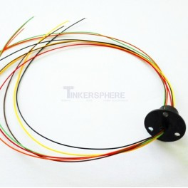 Slip Ring 6 Wires 300 RPM 240VAC 12.5mm