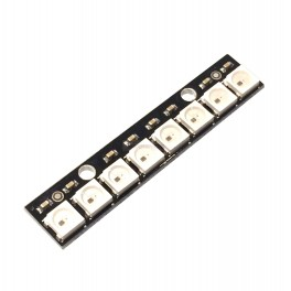 8 x WS2812 5050 RGB LED Stick with Integrated Drivers (Neopixel Compatible)