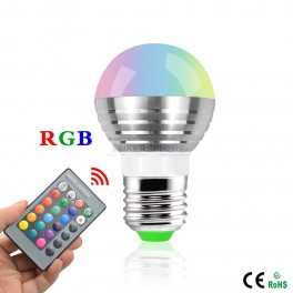 Smart RGB Light Bulb with Remote