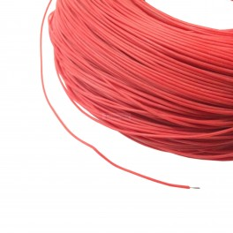 Red 30 AWG Soft Silicone Wire by the foot