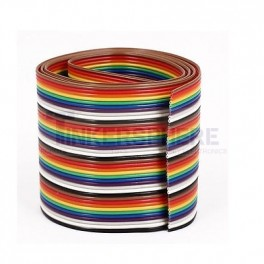Rainbow 40 Pin Ribbon Cable Wire by the foot