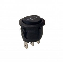 Round Rocker Switch SPDT 3 Pin