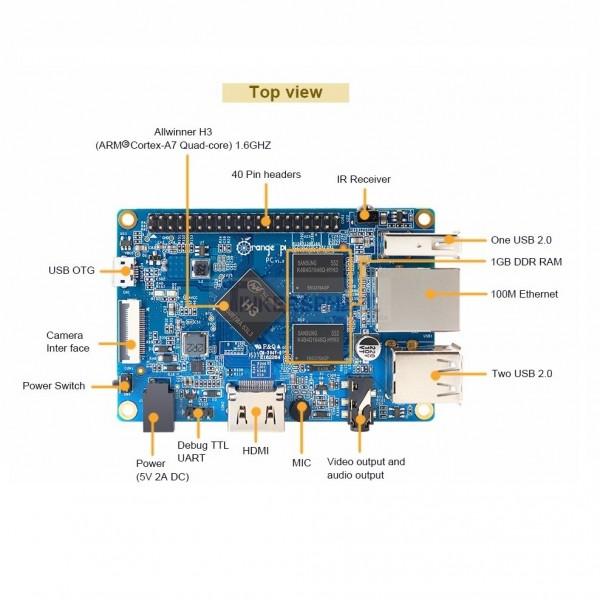 $24.99 - Orange Pi PC: 1GB RAM 1.6Ghz Quad-Core Processor - Tinkersphere