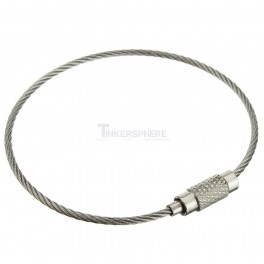 Stainless Steel Cable Loop Key Ring