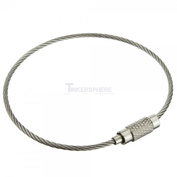 1.79 - Stainless Steel Cable Loop Key Ring - Tinkersphere 9e283eaf4