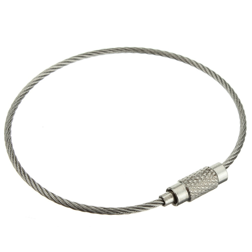 1 79 - stainless steel cable loop key ring