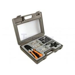 Crimping Tool Kit for Network Cables: 4P4C (RJ10), 6P4C (RJ11), 6P6C (RJ12), 8P8C (RJ45)