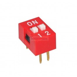 2 Pin DIP Switch (Breadboard & Perfboard Compatible)