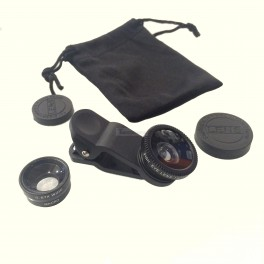 Clip-On Macro, Fisheye & Wide Angle Lens Kit for Phones