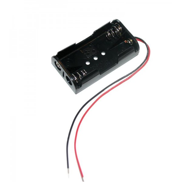 1 49 2 Aa Battery Holder With Wires Tinkersphere