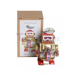 Gold Drumming Tin Robot