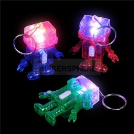 Light Up Robot Keychain