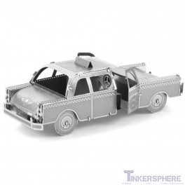 Checker Cab: 3D Steel Laser Cut Model