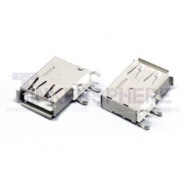 Female USB Port Solder Connector Type A Side Mount
