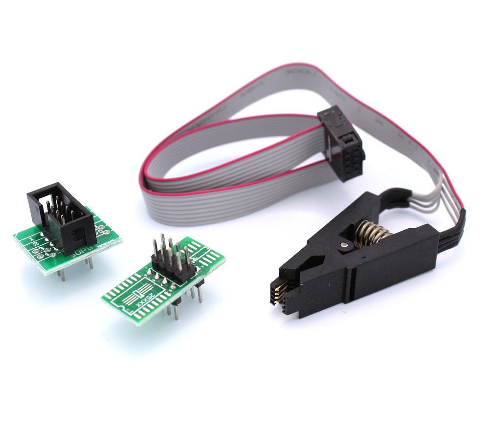 SOIC8 SOP8 Test Clip with Wires and Breakout Boards - Tinkersphere