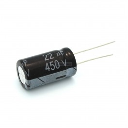 22uF 450V Electrolytic Capacitor