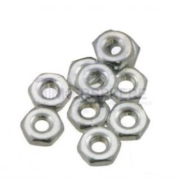 "2-56 x 3/16"" x 1/16"" Hex Machine Screw Nuts (10pk)"