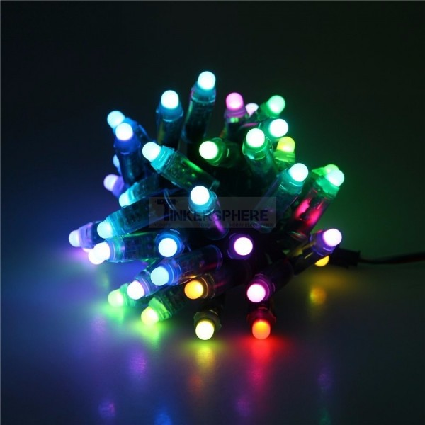 Led Christmas Light.Programmable Christmas Lights Diffused Rgb Led Pixels Strand Of 50 Ws2811