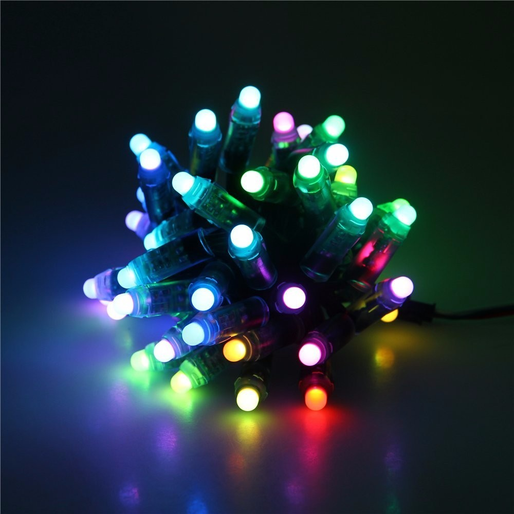 Programmable Christmas Lights: Diffused RGB LED