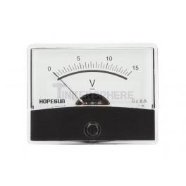 Analog Voltmeter: 15VDC