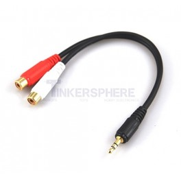 "Male 1/8"" Stereo to Female RCA Adapter"