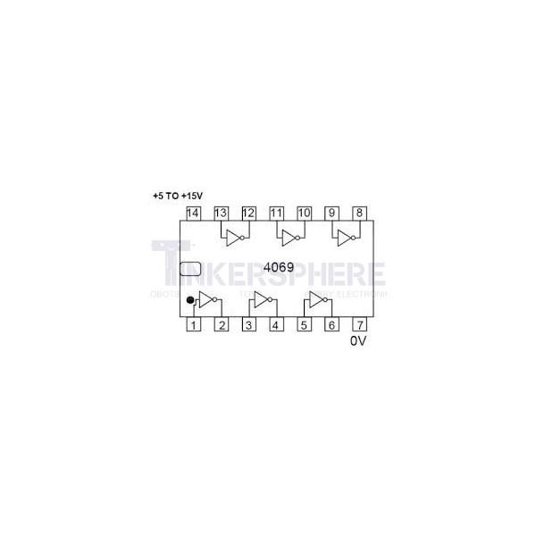Hex Inverter: CD4069BE
