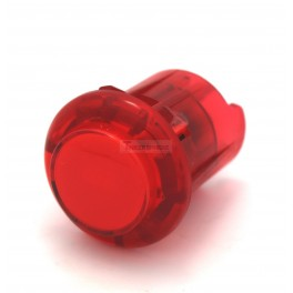 Arcade Button with 5V LED - 30mm Translucent Red